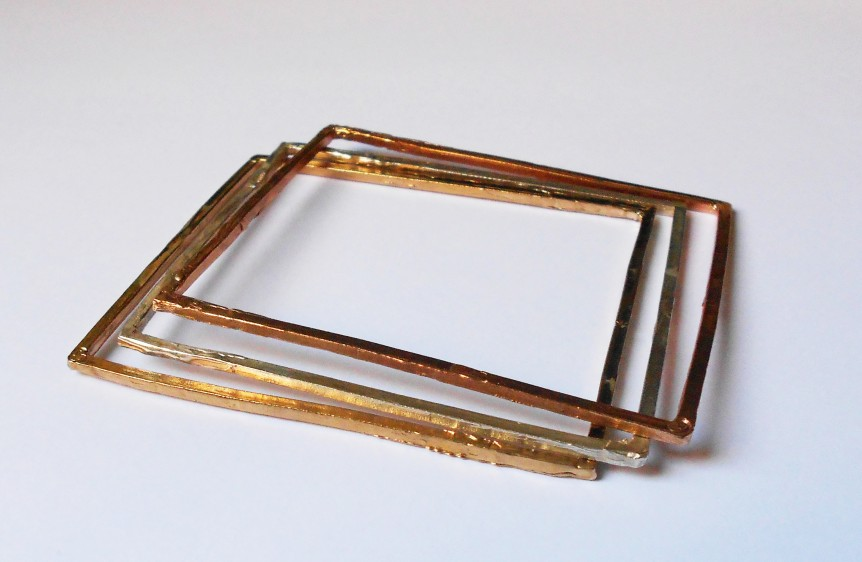 Bracelets-Square-in-silver-and-bronze
