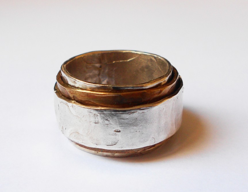 Ring-Slide-in-bronze-and-silver